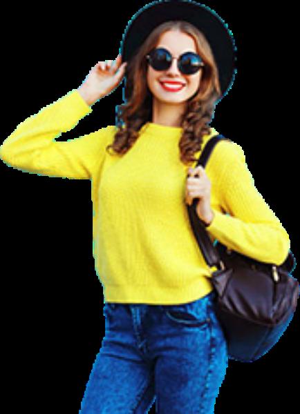 人女人女性女孩黄衣