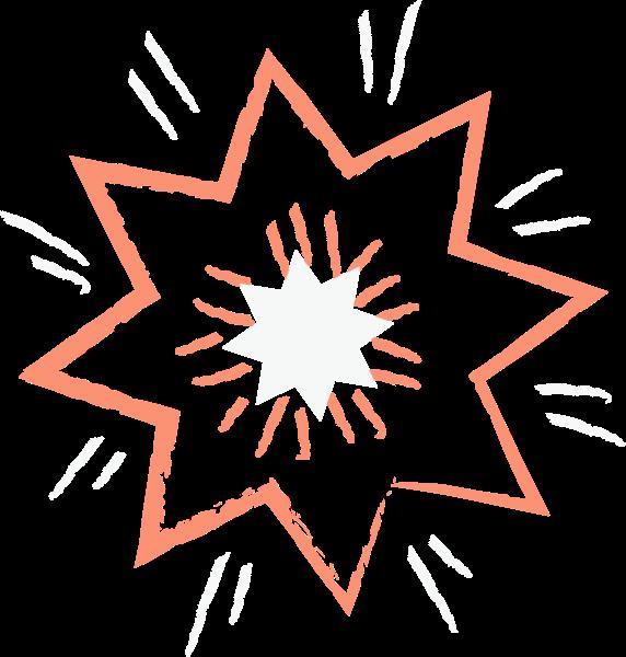 爆炸爆炸星烟花装饰矢量
