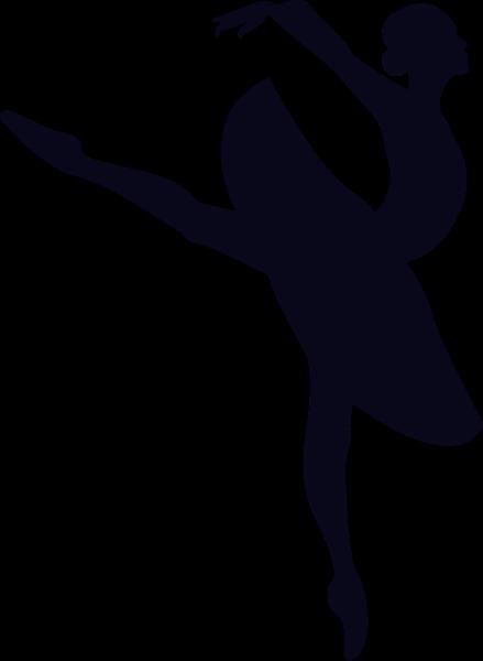 舞蹈芭蕾跳舞剪影女性