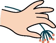 手手指花拿花手势