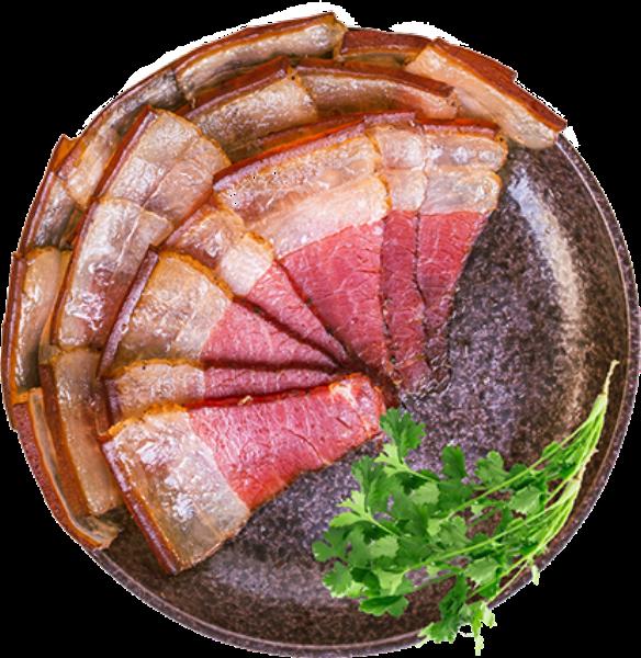 腊肉盘肉片五花肉美食肉食