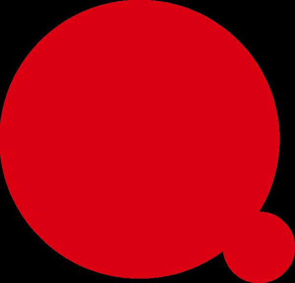 圆形圆红色气泡构成