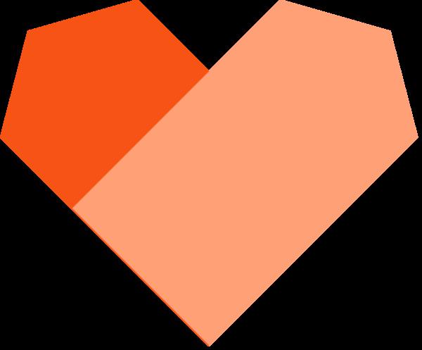爱心心心形桃心橙色