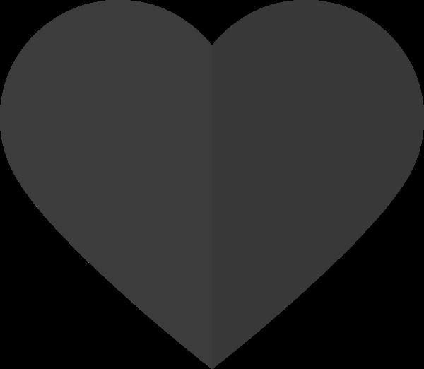 爱心心心形桃心灰色