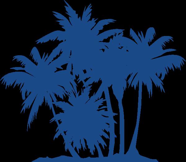 椰子树剪影植物树树木