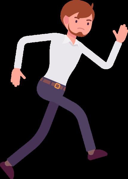 人男性奔跑