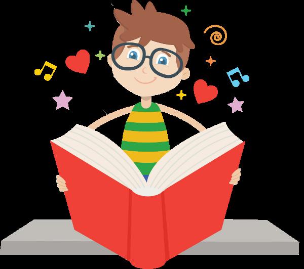 读书儿童小孩认真阅读