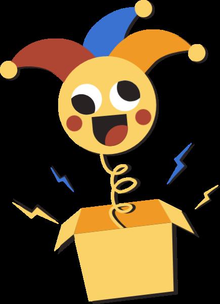 小丑盒子弹簧盒子玩具小丑愚人节