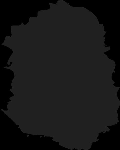 墨汁黑色手绘装饰装饰元素