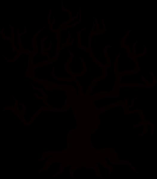 树枝剪影树木扭曲恐怖