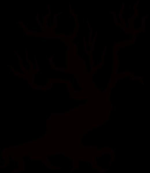 树木剪影树枝扭曲恐怖