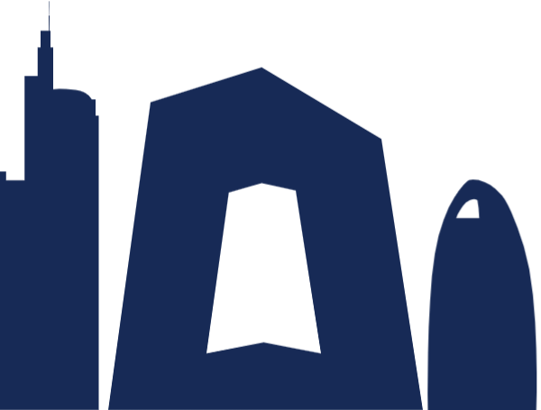 房屋中央电视大楼建筑剪影装饰