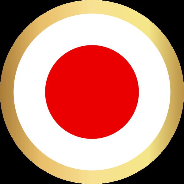 国旗圆日本国家足球