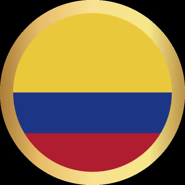 国旗圆哥伦比亚国家足球