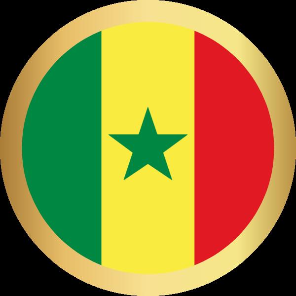 国旗圆塞内加尔国家足球