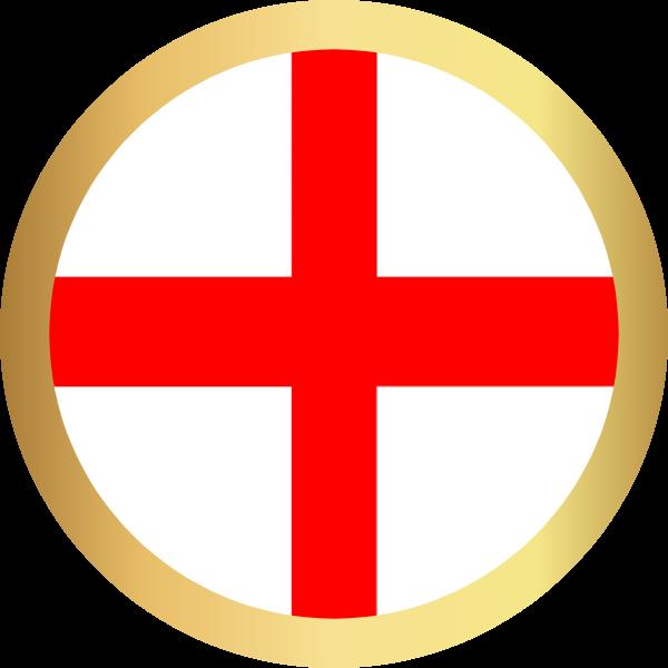 国旗圆英格兰国家足球