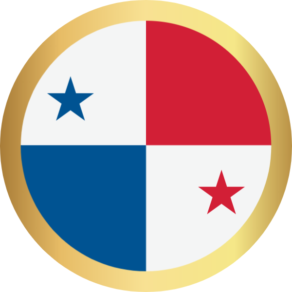 国旗圆巴拿马国家足球