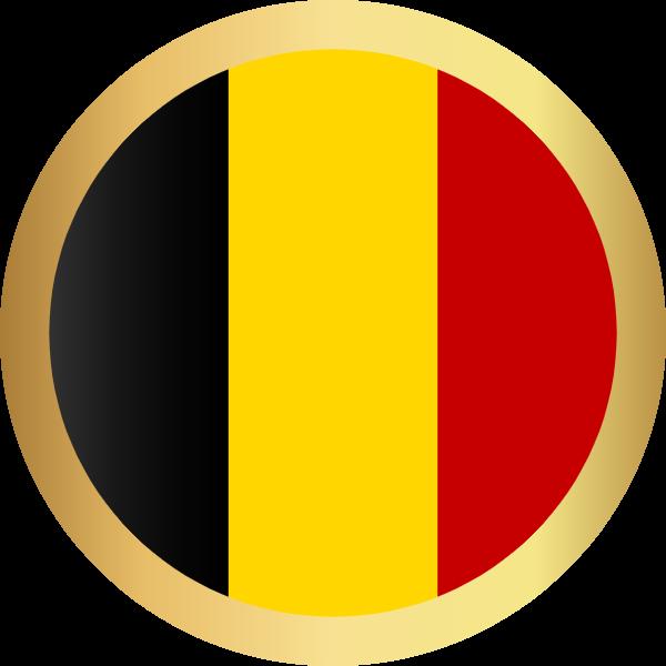 国旗圆比利时国家足球