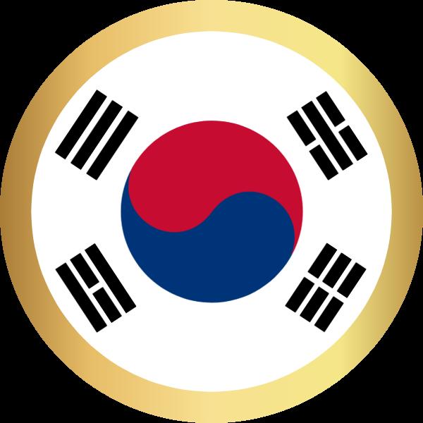 国旗圆韩国国家足球