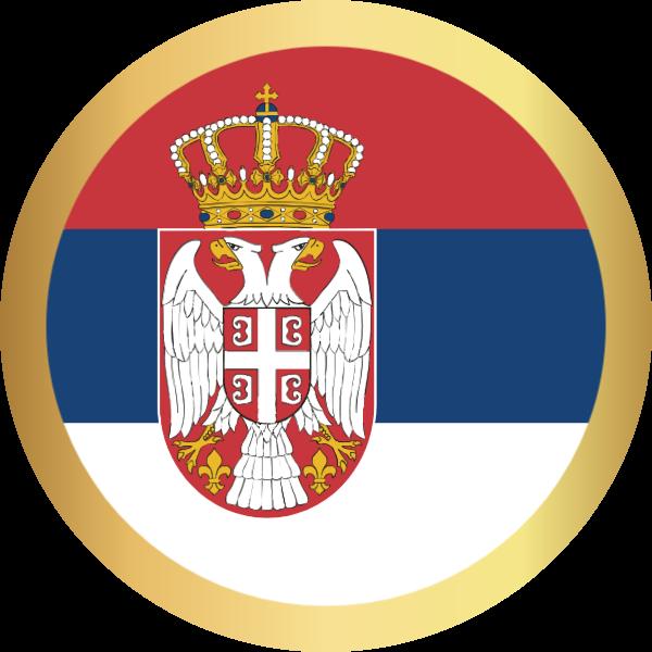 国旗圆塞尔维亚国家足球