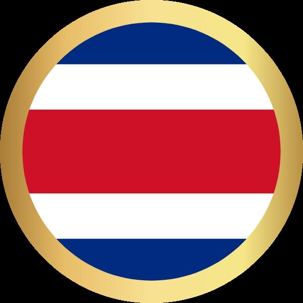 国旗圆哥斯达黎加国家足球