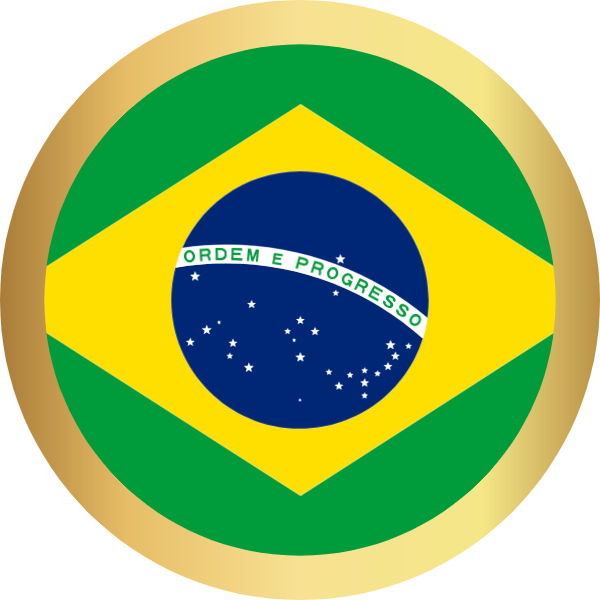 国旗圆巴西国家足球