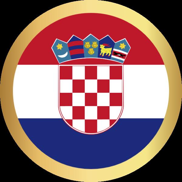 国旗圆克罗地亚国家足球
