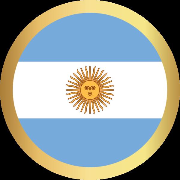 国旗圆阿根廷国家足球