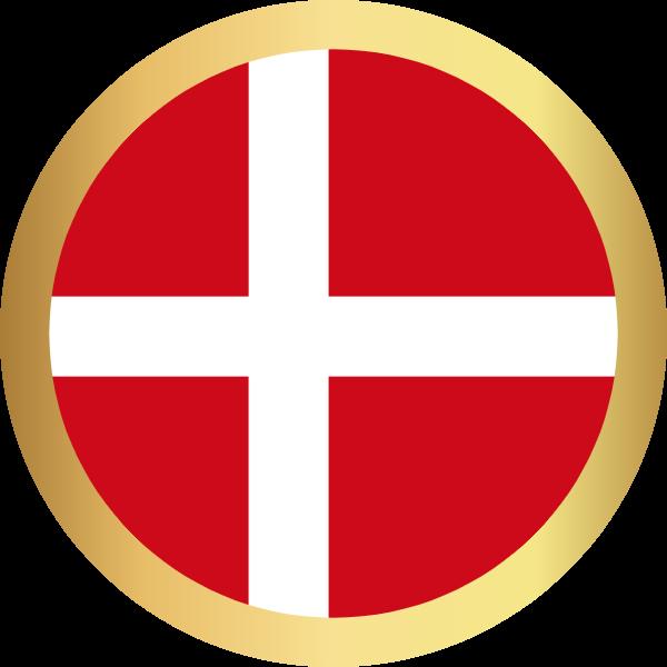 国旗圆丹麦国家足球