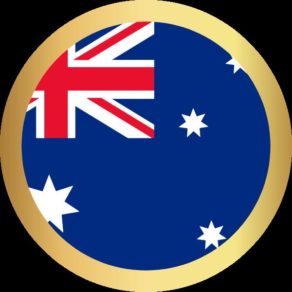 国旗圆澳大利亚国家足球