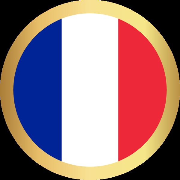 国旗圆法国国家足球