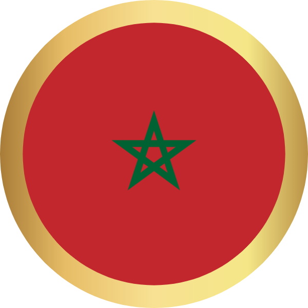 国旗圆摩洛哥国家足球