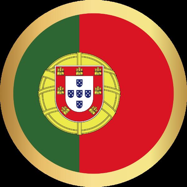 国旗圆葡萄牙国家足球