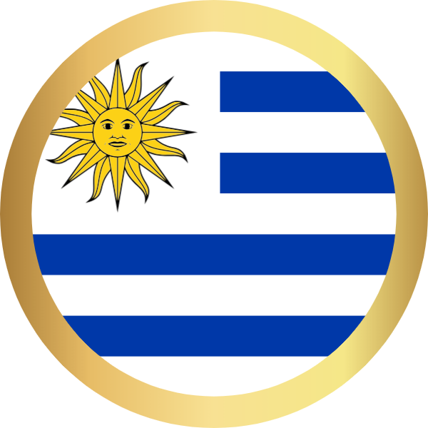 国旗圆乌拉圭国家足球