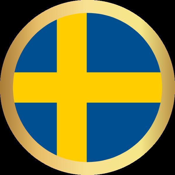 国旗圆瑞典国家足球