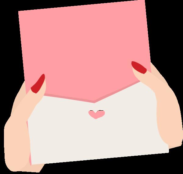 信封情书信纸手手指