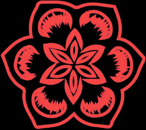 剪纸花朵年花花卉装饰