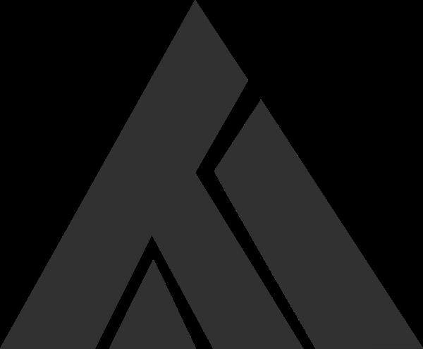 三角形几何组合创意标识灰色