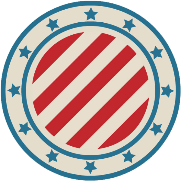 圆形圆五角星印章标志