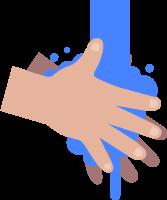 洗手醫療健康水卡通