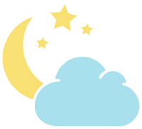 多云夜晚星星月亮云