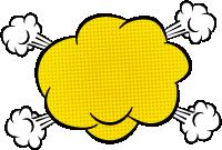 文本框标题框波普元素爆炸漫画