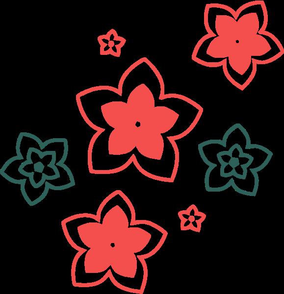 花纹花朵樱花花卉剪纸