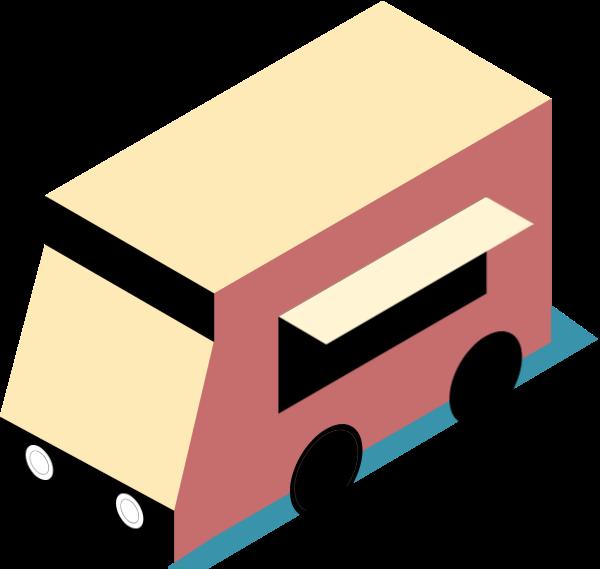 餐车车车辆小车建筑