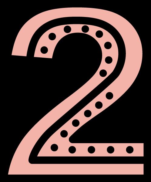 数字2符号装饰装饰元素