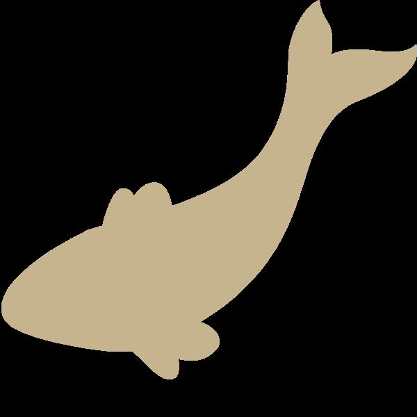 鱼动物剪影卡通鱼儿