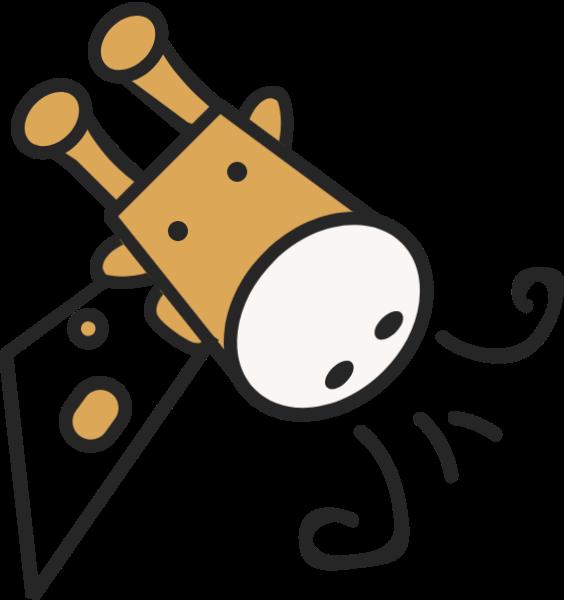长颈鹿奶牛牛可爱动物