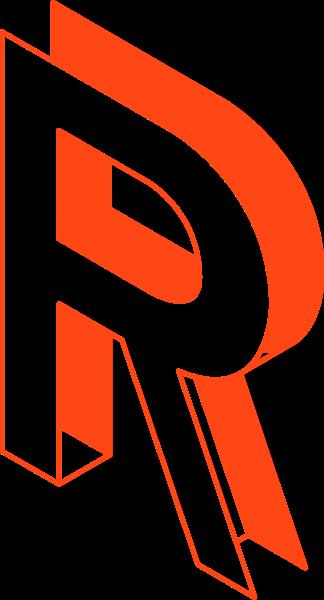 r字母vr英文红色