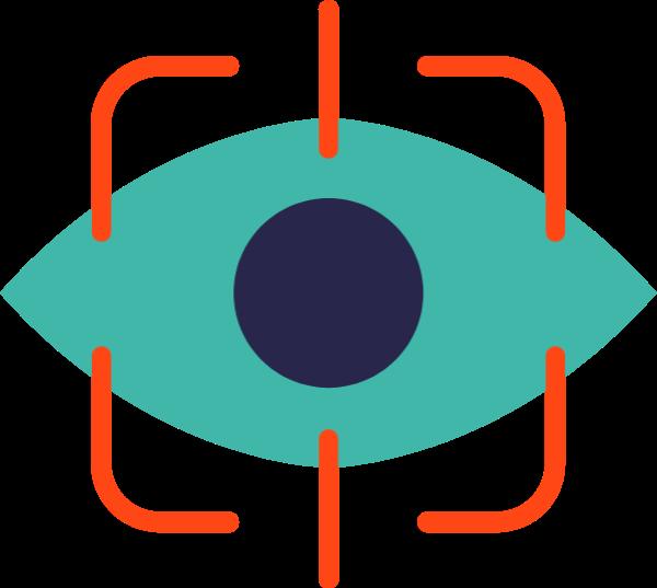 眼睛对焦拍摄icon图标