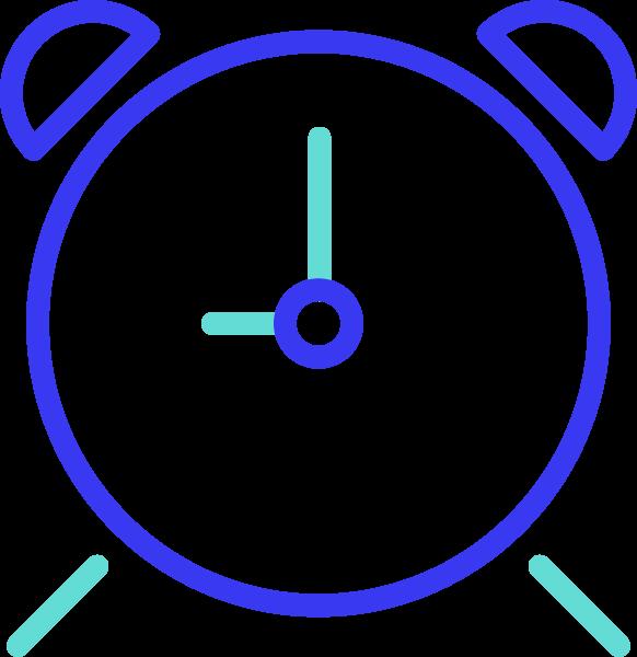 闹钟表盘办公钟表办公图标